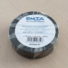 Izoliacija PVC 0,15mm 19mm x 25m. juoda MTA